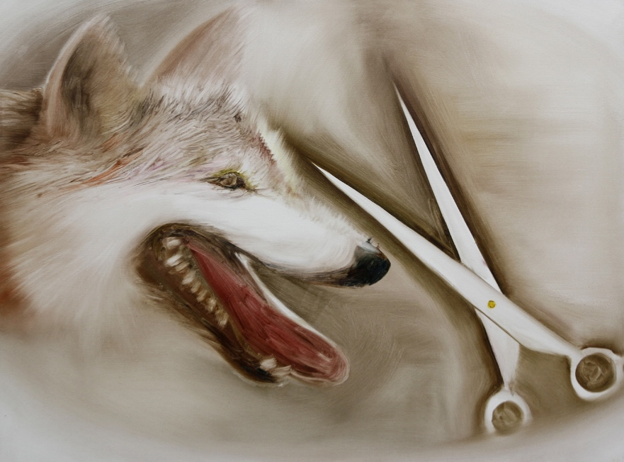 「wolf & scissors」 1,303×970 oil on canvas 2014