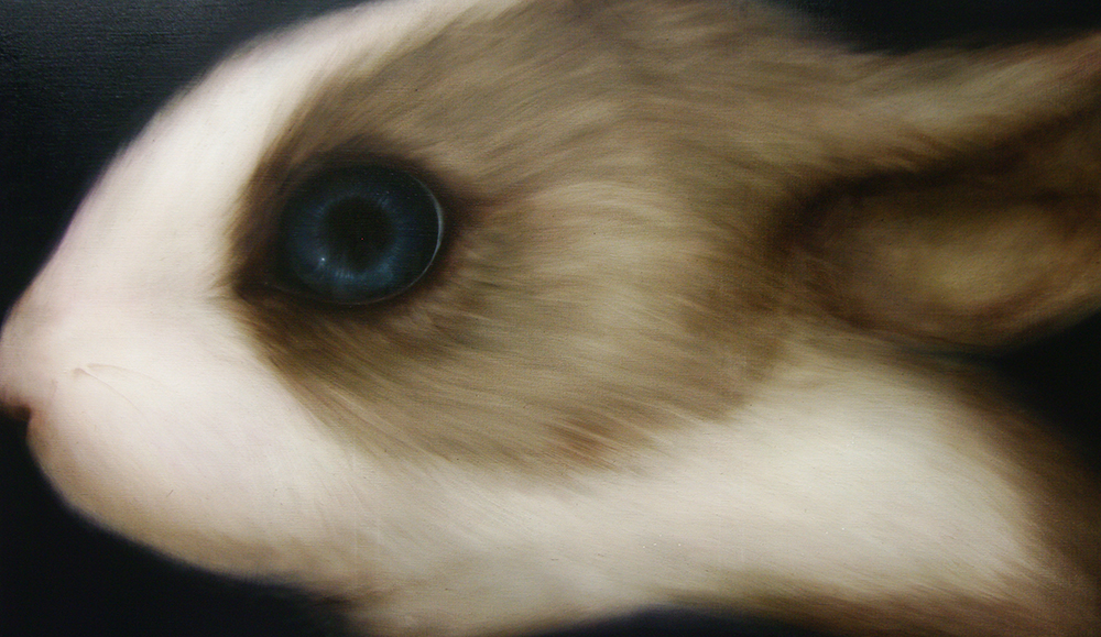 rabbit(left) 1120×970 oil on canvas 2011
