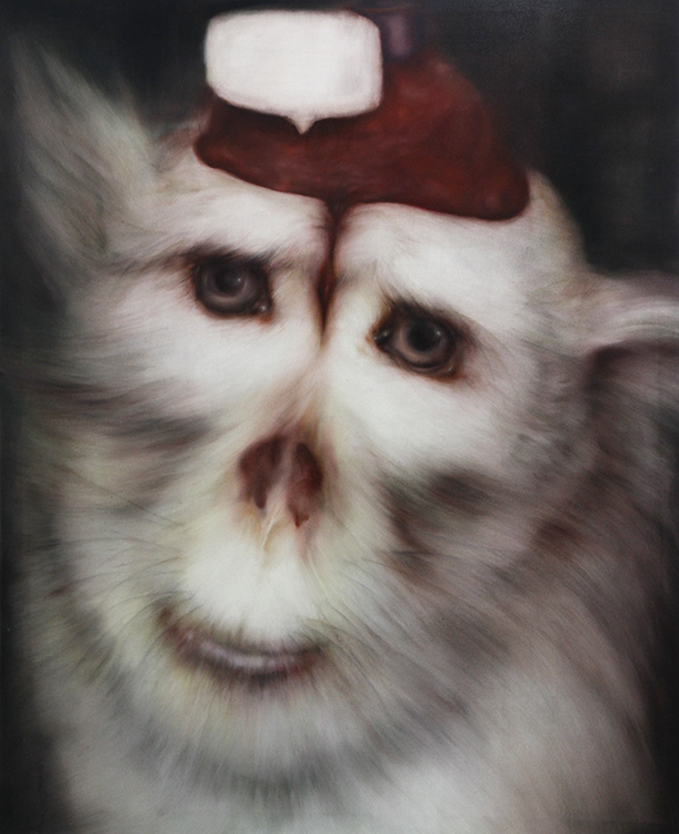 「monkey no,1」 1,620×1,300 oil on canvas 2014