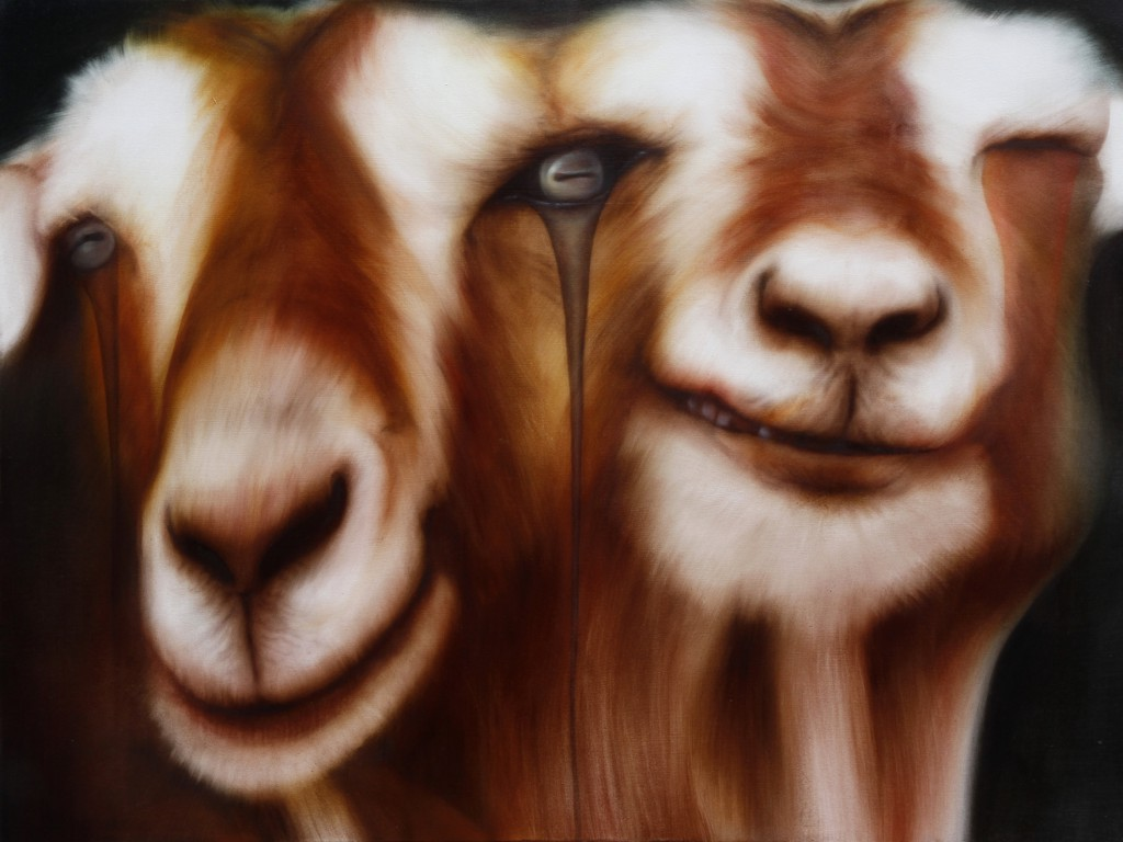 「goats」 1,303×970 oil on canvas 2014