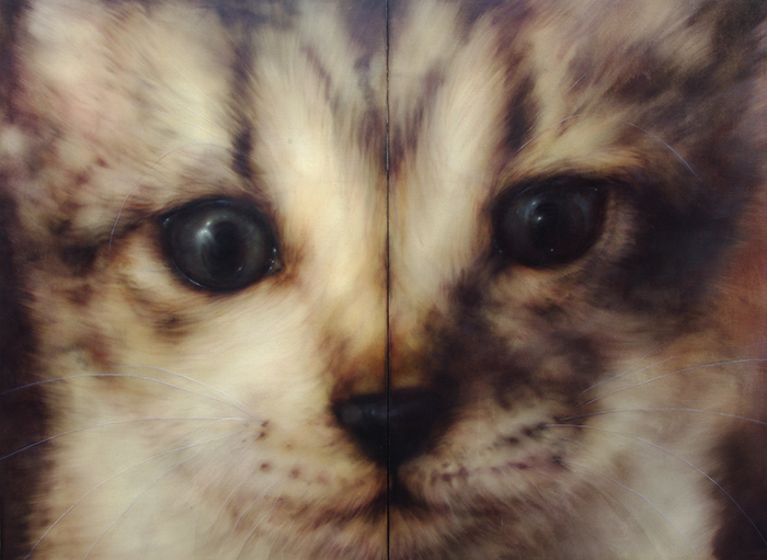 「cat no,3」 2590×1940 oil on canvas 2010