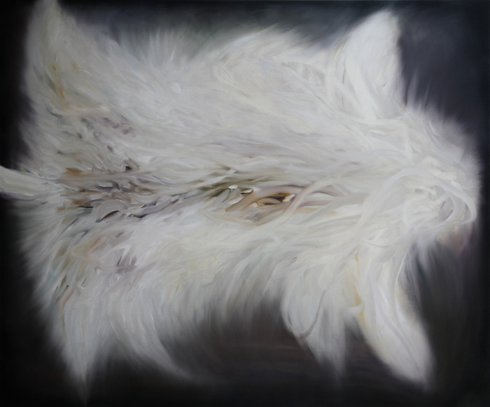 「fur」 1,940×1,620 oil on canvas 2014