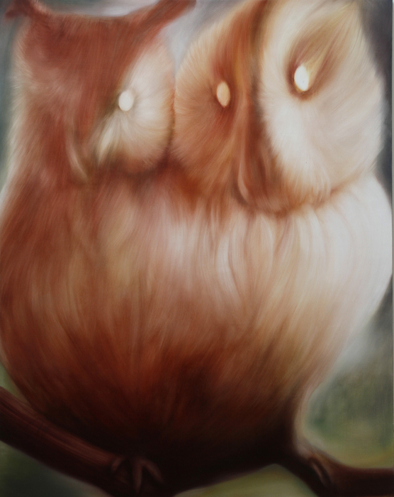 「owls」 2,273×1,818 oil on canvas 2013